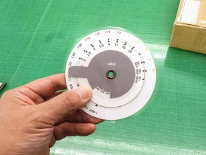 露出換算用の計算尺を作る